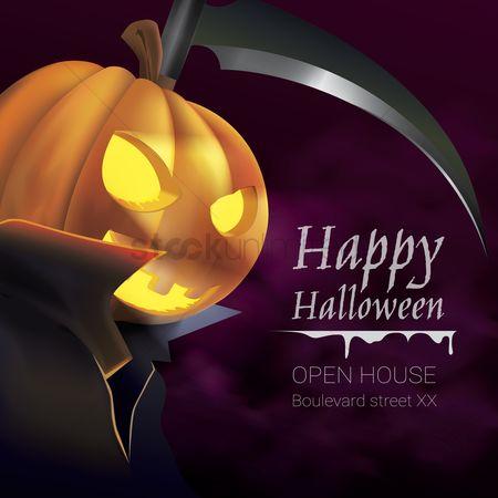 1605411 Scythe Happy Halloween