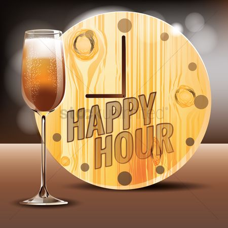 Alcohols : Happy hours with wine glass