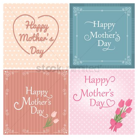Mothers day : Happy mothers day card collection