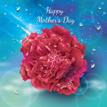 Mothers day : Happy mothers day card with flower