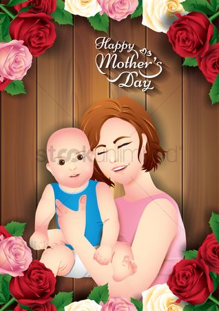 Mothers day : Happy mothers day poster
