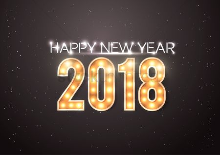 Fonts : Happy new year 2018