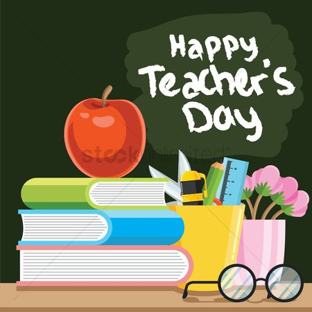 Blackboard : Happy teacher s day design