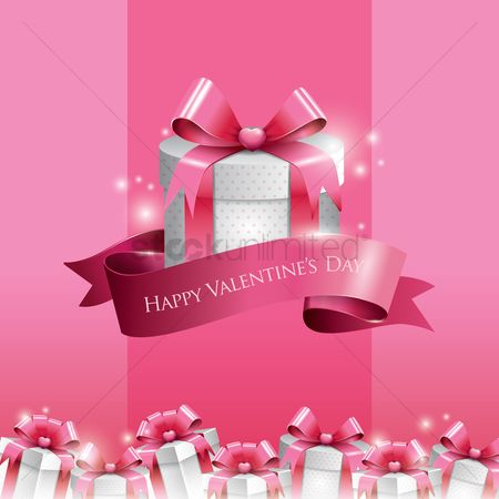 Romance : Happy valentine s day with gift boxes