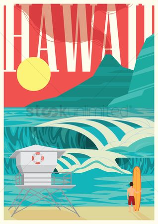 Surfboards : Hawaii poster