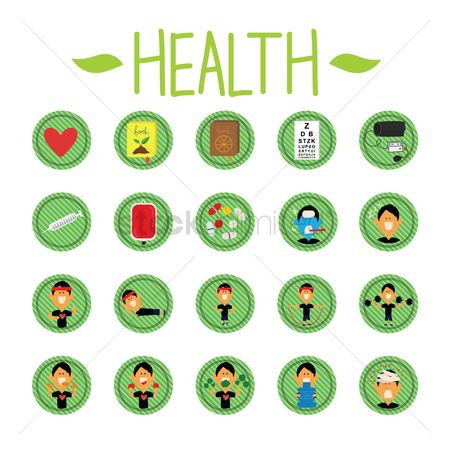 Health cares : Health   fitness icons