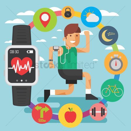 Wristwatch : Health and fitness concept