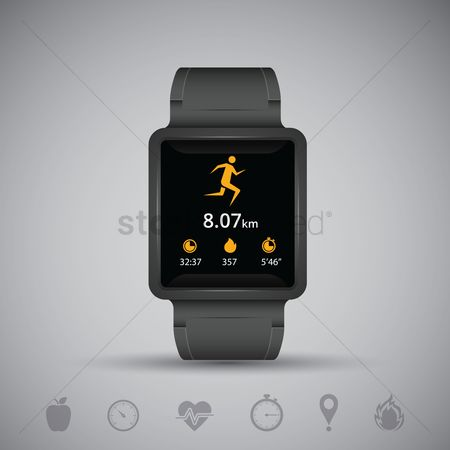 Measure : Health and fitness smartwatch concept