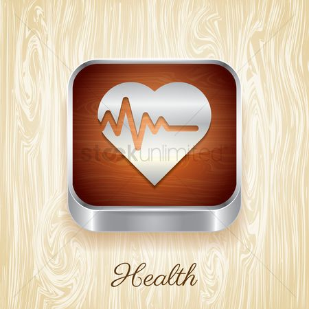 Wooden sign : Health button