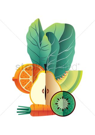 Health : Healthy food poster design