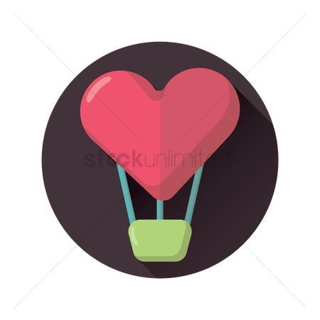 Heart : Heart hot air balloon