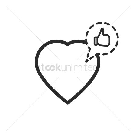 Comment : Heart icon with notification