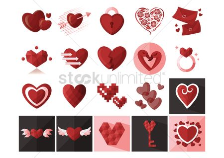 Valentines day : Heart icons