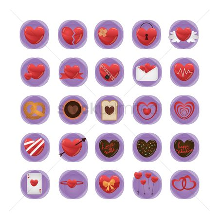 Cardiogram : Heart icons