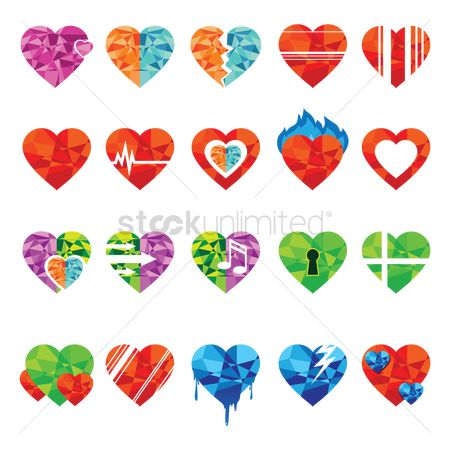 Heart shape : Heart icons