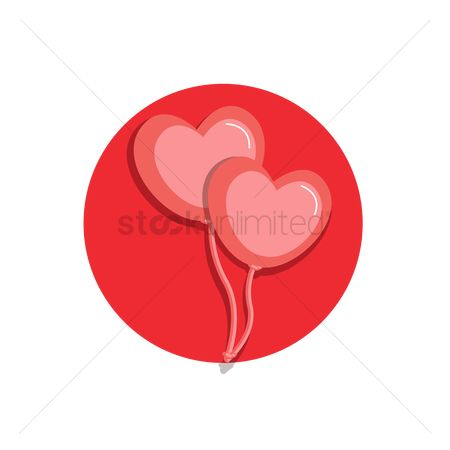 Heart : Heart shaped balloons