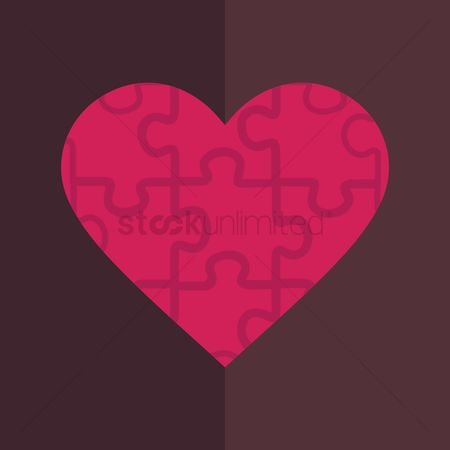 Jigsaw : Heart shaped puzzle