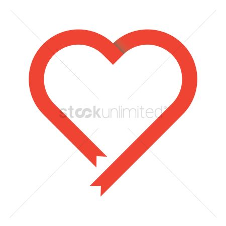 Heart shape : Heart shaped ribbon