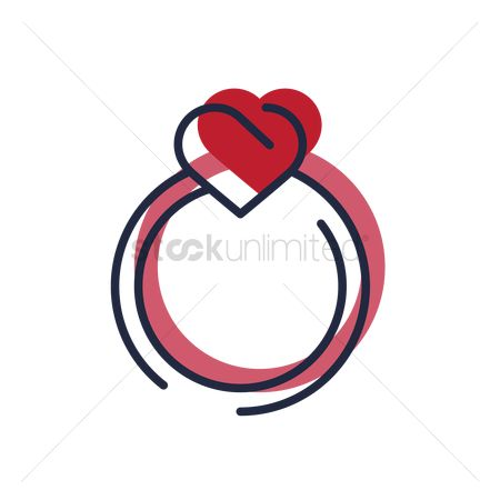 Engagements : Heart shaped ring