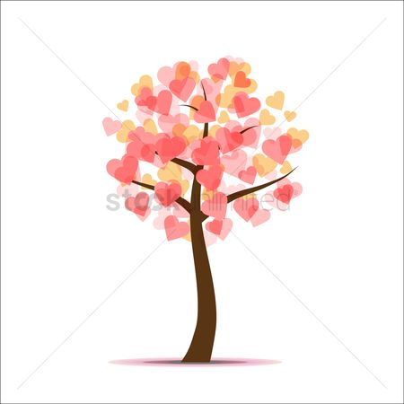 Love : Heart shaped tree