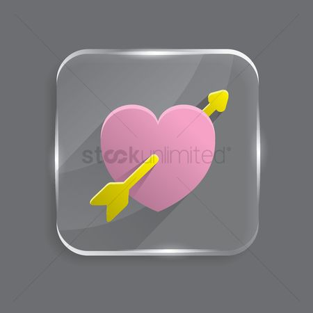 Online dating icon : Heart with arrow icon