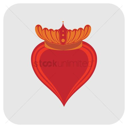 Royal : Heart with crown