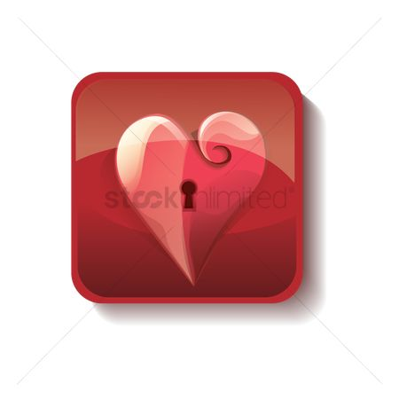 Heart : Heart with keyhole