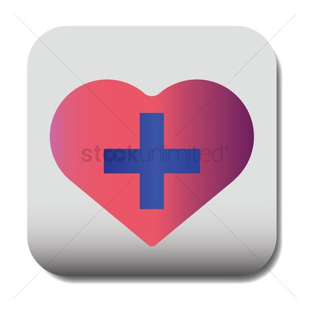 Online dating icon : Heart with plus icon