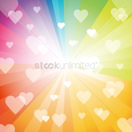 Love : Hearts background