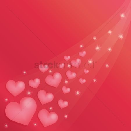 Sparkle : Hearts background