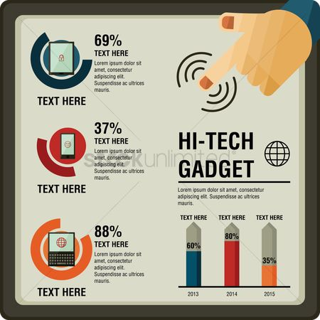 Electronic : Hi-tech gadget infographic