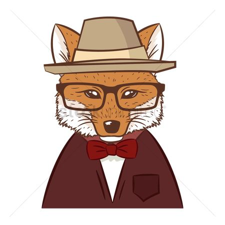 Man suit fashion : Hipster fox
