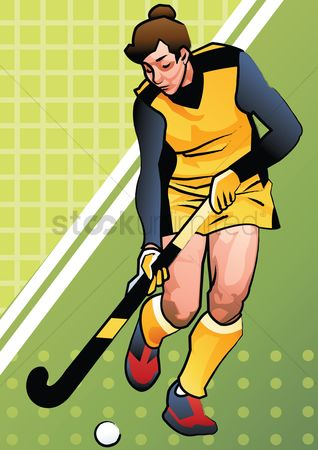 Athletes : Hockey player in action