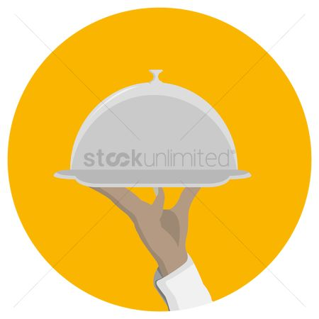 Servings : Holding a plate with a cloche