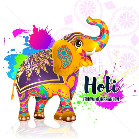 Huge : Holi festival background design