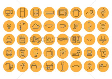 Stove : Home appliance icons