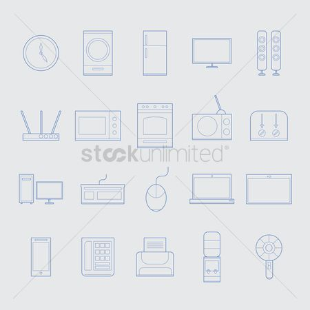 Routers : Home appliance icons