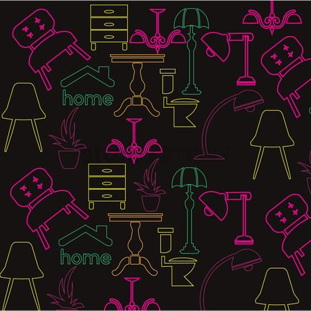 Households : Home appliances background