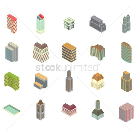 Office  building : Home icons