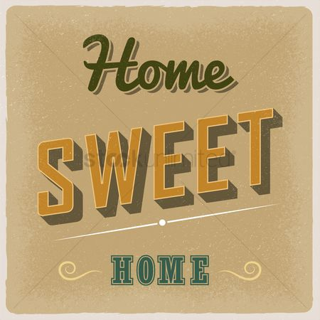 Old fashioned : Home sweet home wallpaper