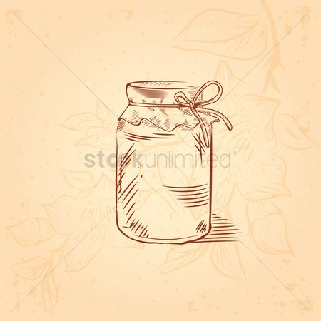 Cloth : Honey jar with ribbon