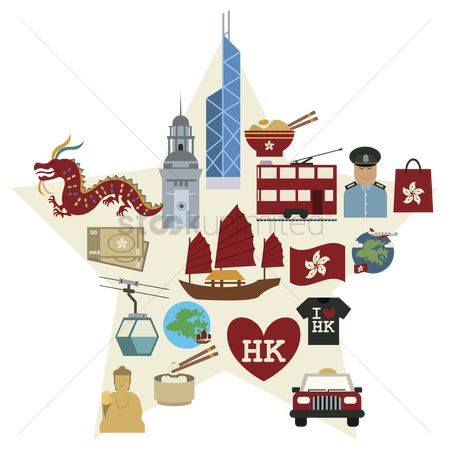 Heart shape : Hong kong icon set
