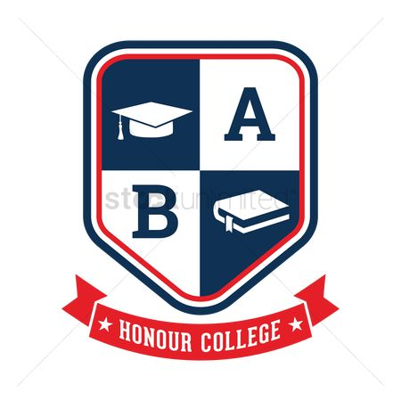 Educational banner : Honour college badge design