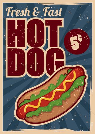 Snack : Hot dog poster