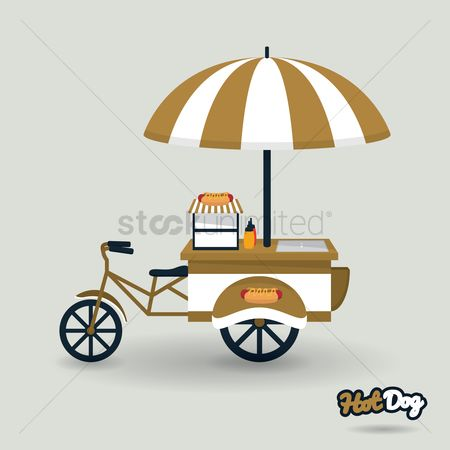 Hotdogs : Hotdog cart