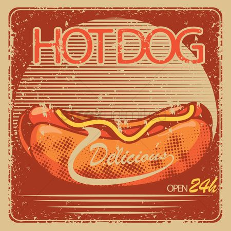 Hotdogs : Hotdog store open sign