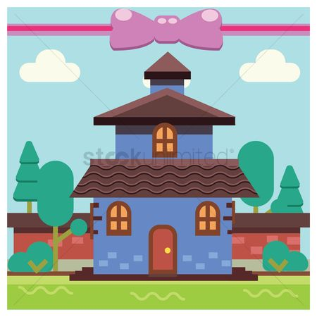 Cottages : House background