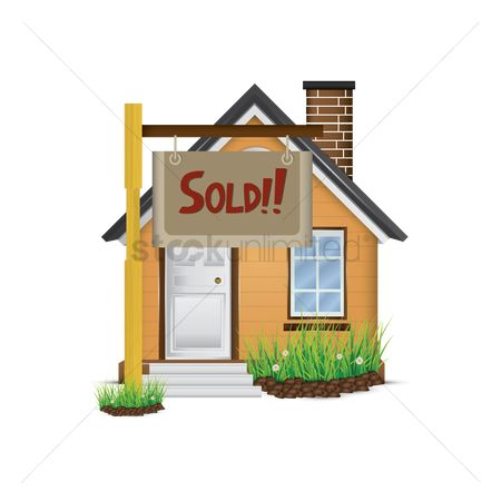 Sold : House sold icon