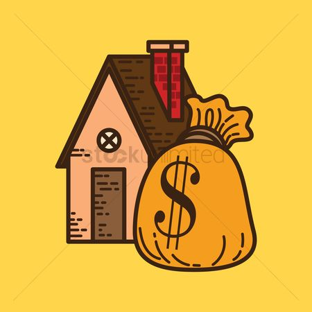 Value : House with money bag