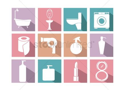 Washing machine : Household  body care and cosmetic icons